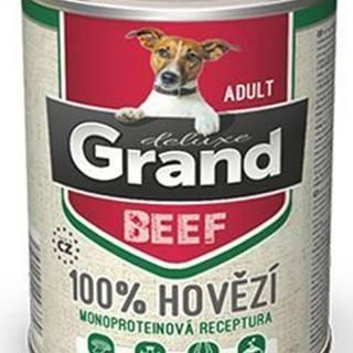 GRAND konz. pes deluxe 100% hovädzie 400g