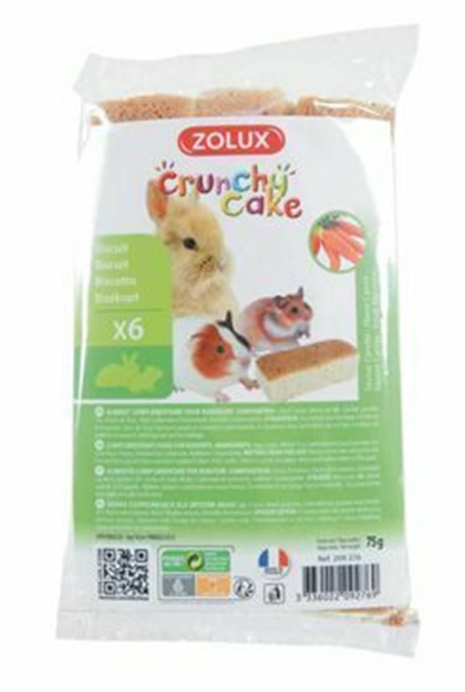 Zolux Crunchy Cake mrkva pre hlodavce 75g Zolux
