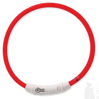 Obojek DOG FANTASY světelný USB červený 65 cm 1ks