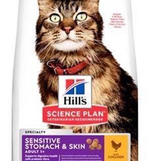 Hill's Fel. Dry Adult Sensit.Stomach&Skin Chicken1,5kg