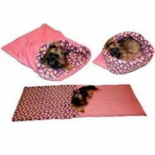 Spací vak 3v1 srdiečka / ružová XL pes, mačka č.60
