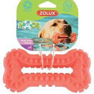 Hračka pes BONE MOOS TPR POP 13cm lososová Zolux