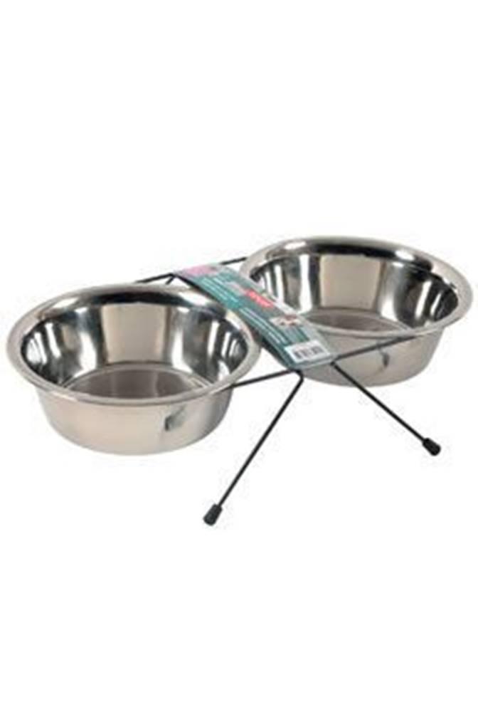 Zolux Miska nerez stojan+2 misky pes STEEL 0,35l Zolux