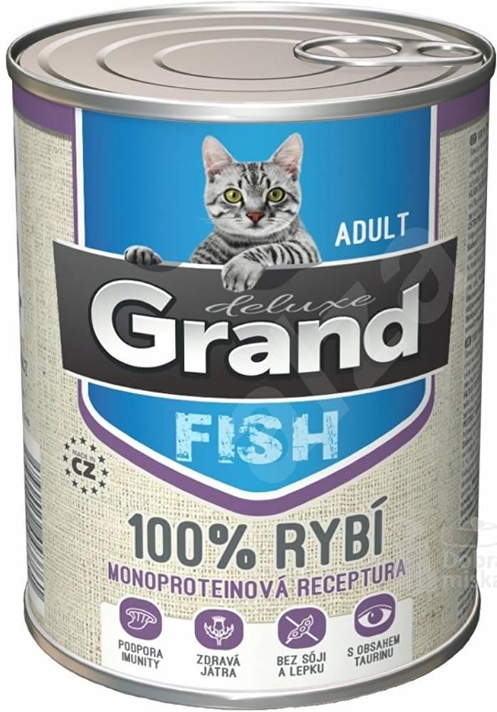 Grand GRAND konz. mačka deluxe 100% rybie 400g