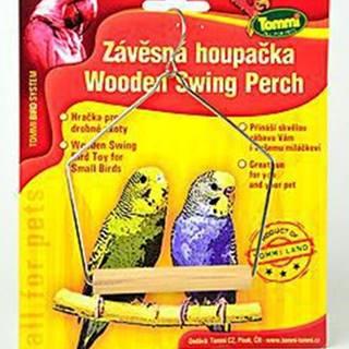 Houpačka malá pro ptáky dřevo - kov