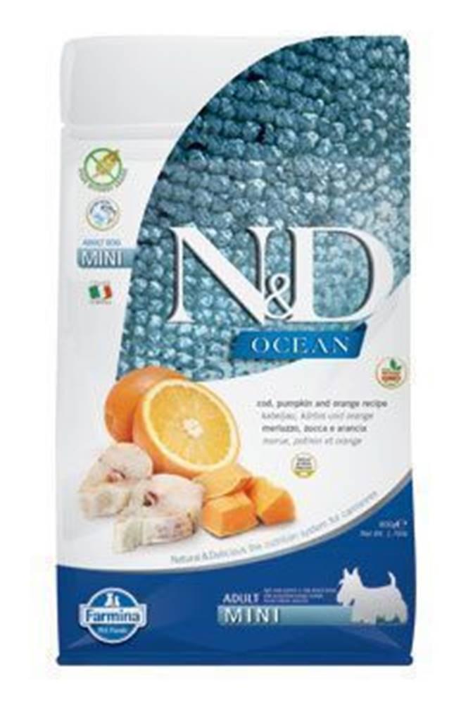 N&D N&D OCEAN DOG GF Adult Mini Codfish&Pumpki&Orang 2,5kg