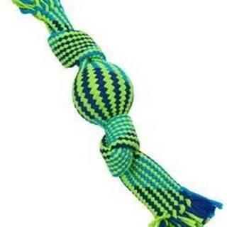 Hračka pes BUSTER Pískacie lano s balónikom mod / ziel 40cm