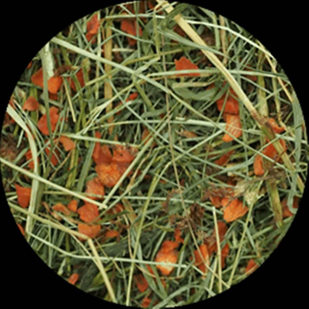 Rabbit&Weed Seno luční s mrkví RabbitWeed 0,6kg