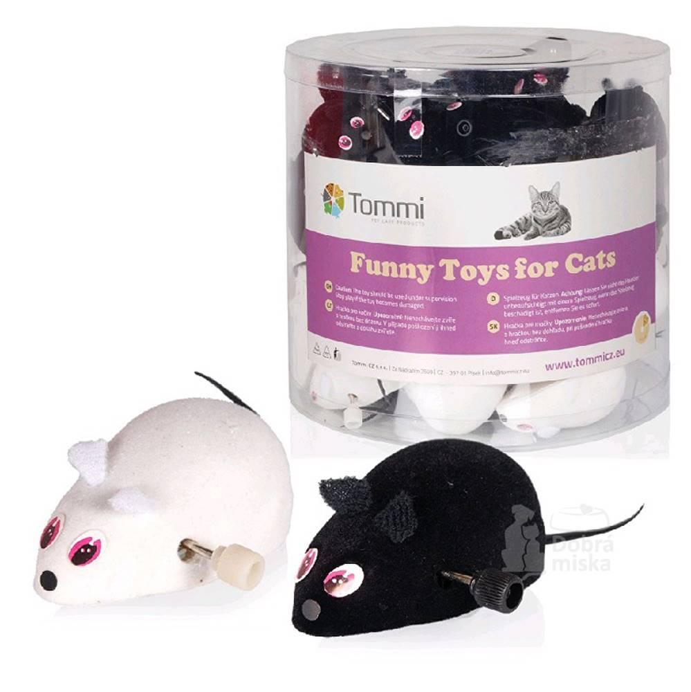 Tommi Hračka kočka Myška na klíček malá 7cm