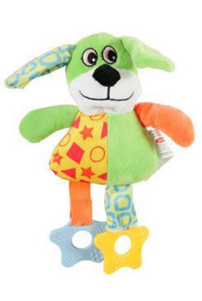 Zolux Hračka pes DOG COLOR plyš zelená 22cm Zolux