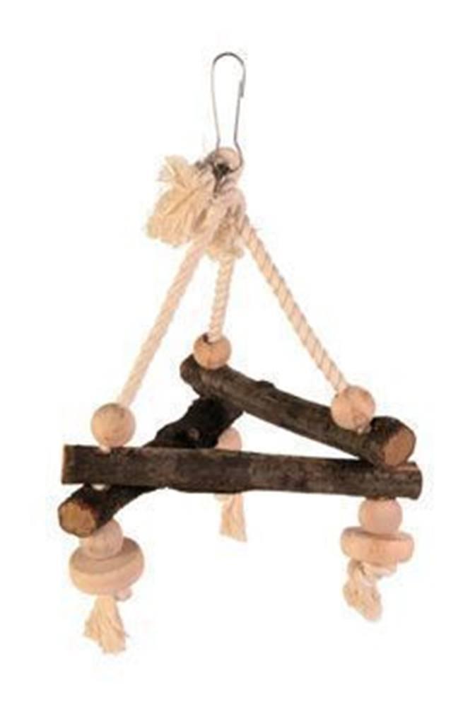Trixie Závěsný dřevěný triangl 16x16x16cm