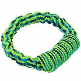 Hračka pes Bungee Kruh modrá / zelená 16cm
