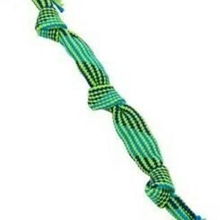 Hračka pes BUSTER Pískací lano, modrá/zelená, 58cm, L