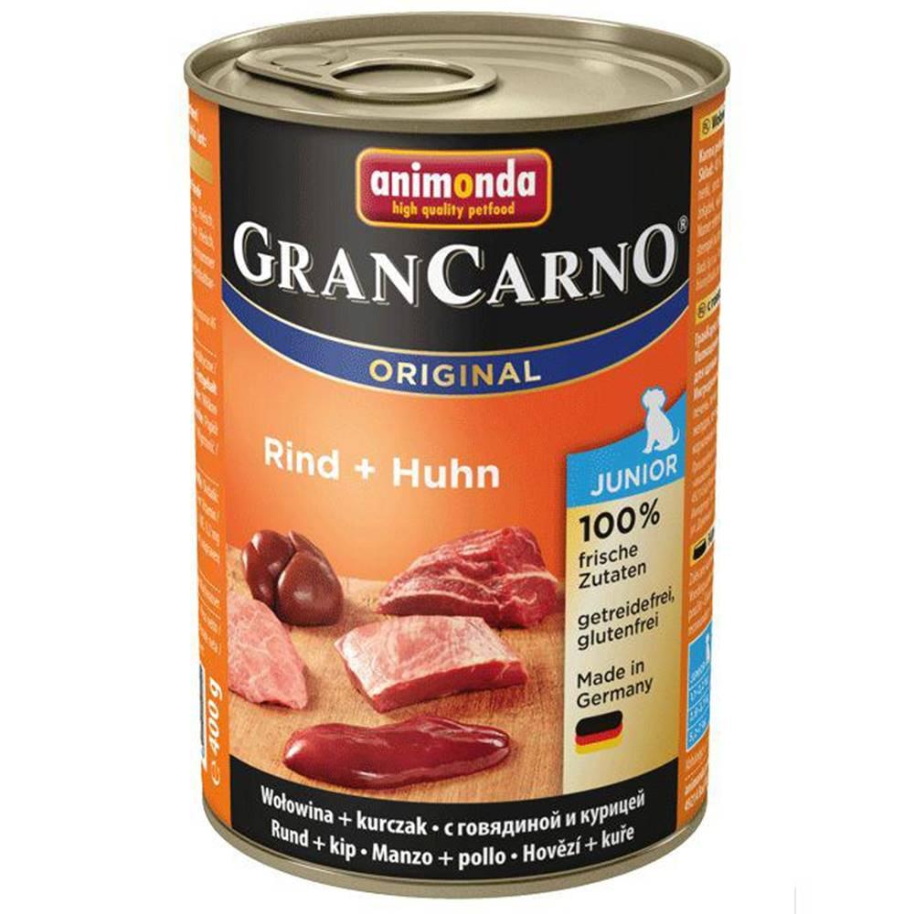Animonda Animonda dog konzerva Gran Carno Junior hovädzie / kuracie - 400g