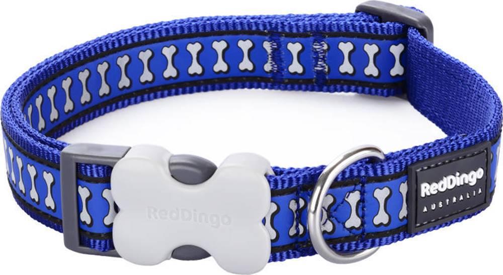 Red-dingo Obojek RD REFLECTIVE bones DARK BLUE - 1,2/20-32cm