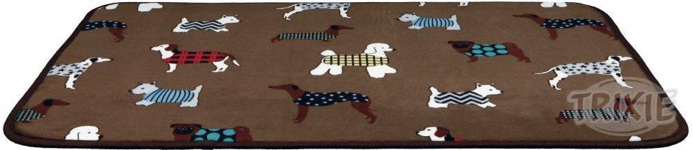 Trixie Podložka (obdĺžnik) protišmyková FUN dogs - 90x68cm