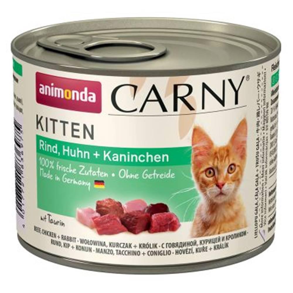 Animonda ANIMONDA cat konzerva Carny Kitten hovädzie, kura, králik - 200g