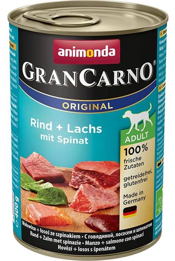 Animonda ANIMONDA dog konzerva Gran Carno hovädzie / losos / špenát - 400g
