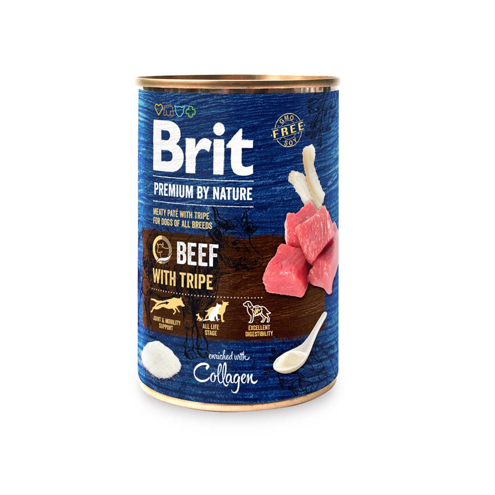 Brit BRIT dog Premium by Nature BEEF with TRIPES - 400g