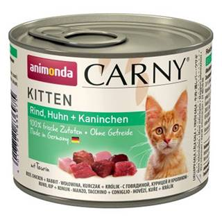 ANIMONDA cat konzerva Carny Kitten hovädzie, kura, králik - 200g