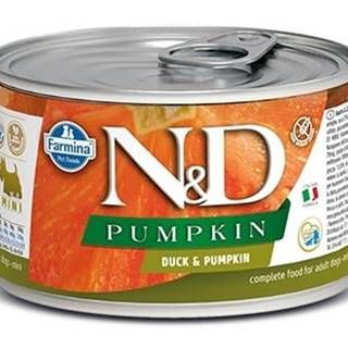 N&D dog GF PUMPKIN konz. ADULT MINI duck - 140g