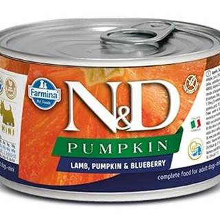 N&D dog GF PUMPKIN konz. ADULT MINI lamb/blueberry - 140g