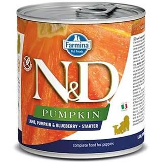 N&D dog GF PUMPKIN konz. STARTER lamb/blueberry - 285g