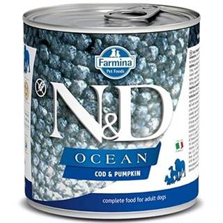 N&D dog OCEAN konz. ADULT codfish/pumpkin - 285g