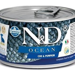 N&D dog OCEAN konz. PUPPY MINI codfish/pumpkin - 140g