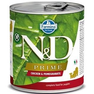 N&D dog PRIME konz. PUPPY chicken/pomegranate - 285g