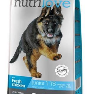 NUTRILOVE pes JUNIOR large - 3kg
