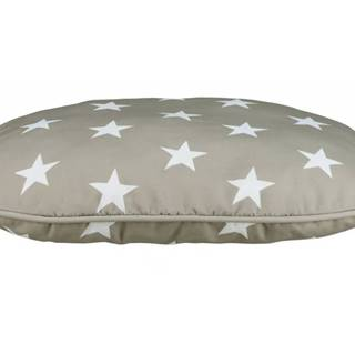 Vankúš (ovál) STARS šedý s hviezdami - 60x40cm