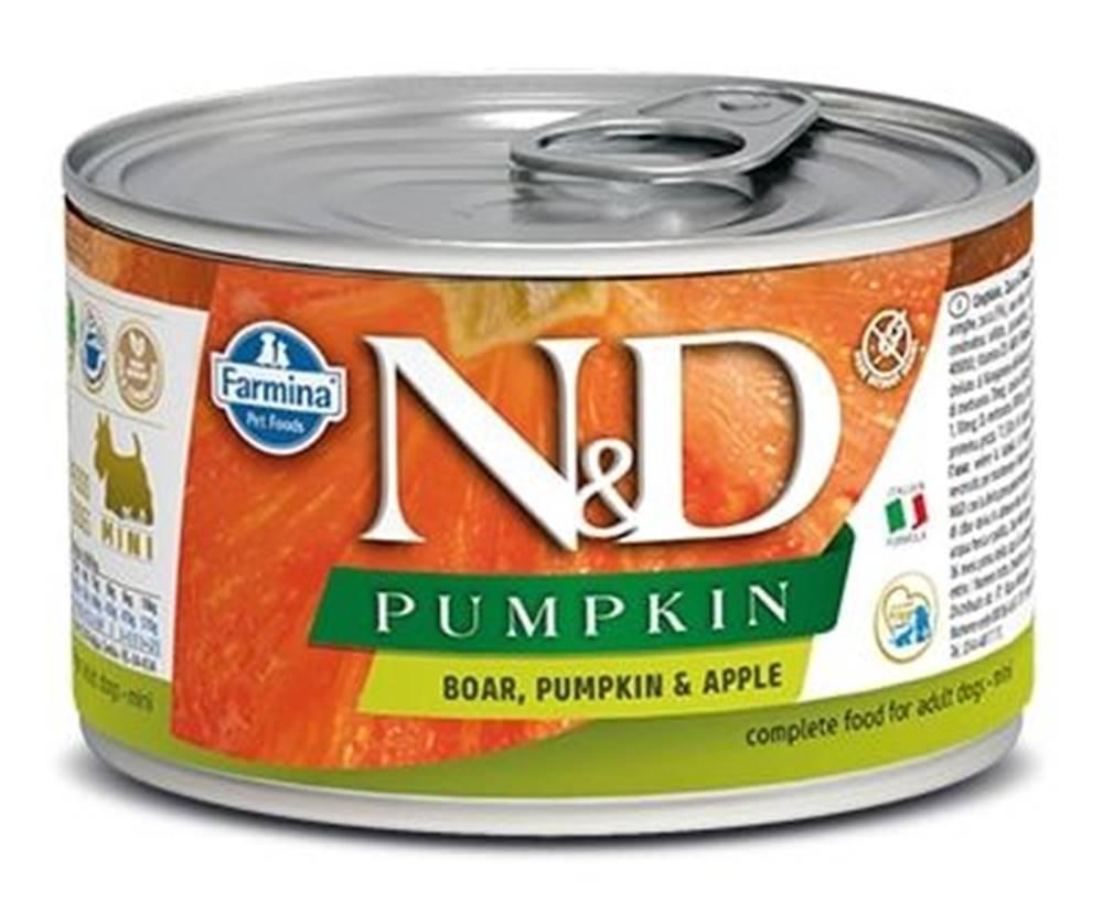 Natural&Delicious N&D dog GF PUMPKIN konz. ADULT MINI boar/apple - 140g