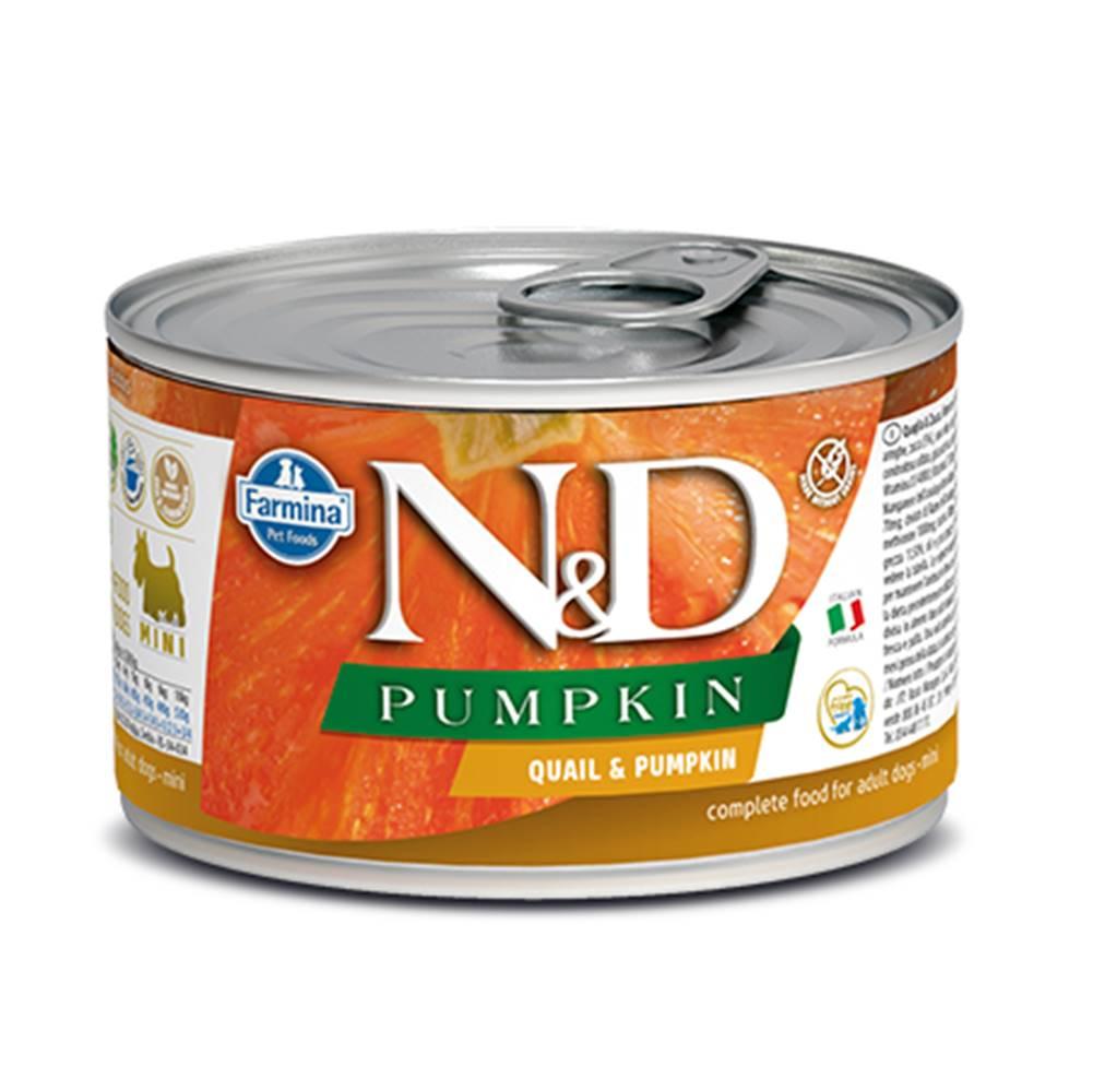 Natural&Delicious N&D dog GF PUMPKIN konz. ADULT MINI quail - 140g