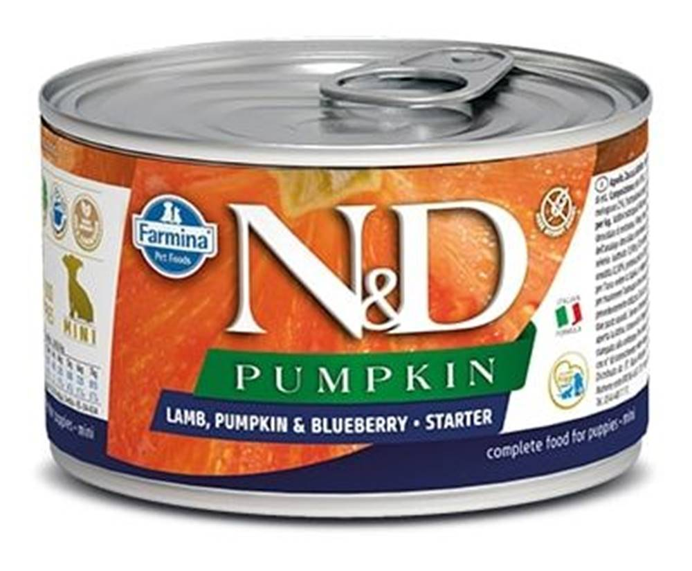 Natural&Delicious N&D dog GF PUMPKIN konz. STARTER MINI lamb/blueberry - 140g
