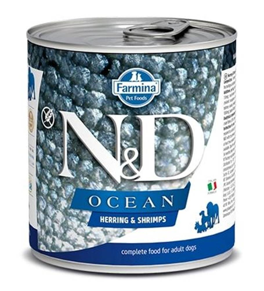 Natural&Delicious N&D dog OCEAN konz. ADULT herring/shimps - 285g
