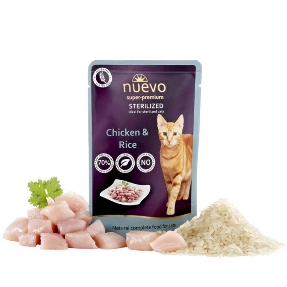 (bez zařazení) NUEVO cat kapsa  STERILISED CHICKEN - 85g