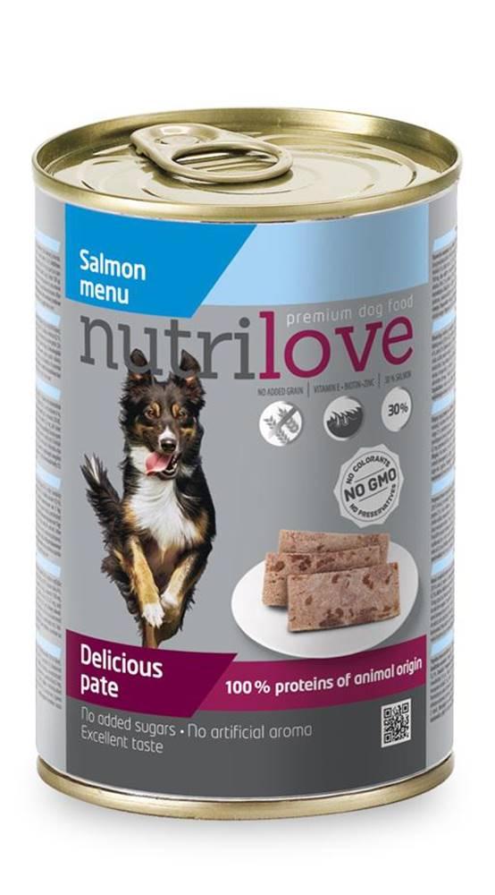 Nutrilove NUTRILOVE pes konz. LOSOS / paté - LOSOS 400g