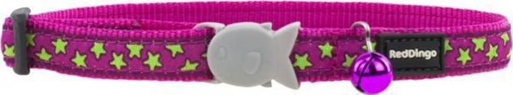 Red-dingo Obojok RD cat STAR 1,2/20-30cm - HOT PINK