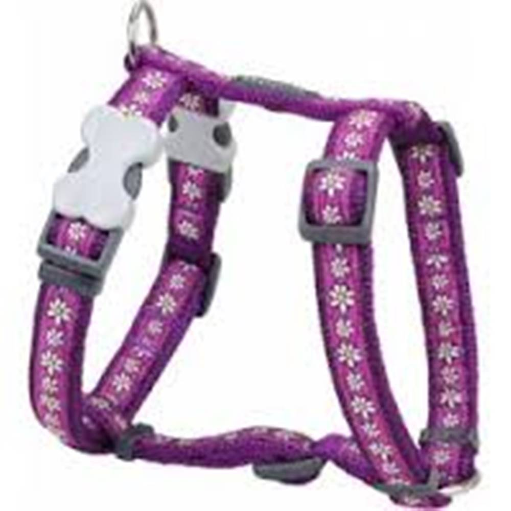 Red-dingo Postroj RD DAISY chain PURPLE - 12mm/30-44cm