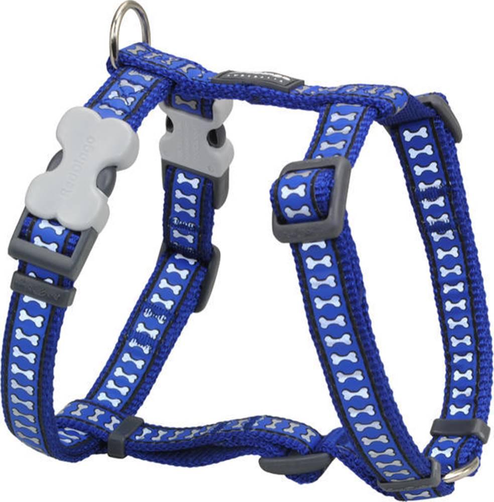 Red-dingo Postroj RD REFLECTIVE bones DARK BLUE - 2,5/56-80cm