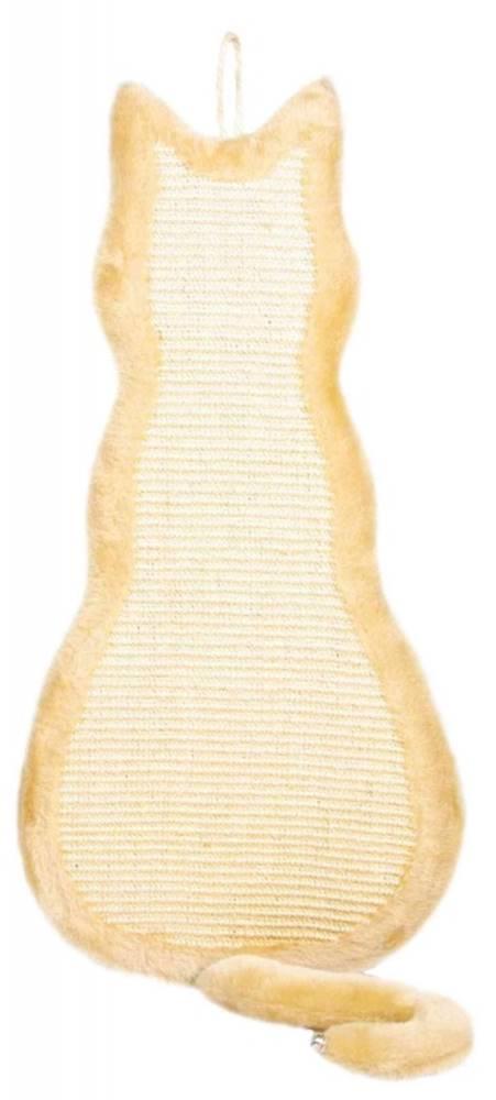 Trixie Škrabadlo závesné tvar Mačička Béžové - 35x69cm