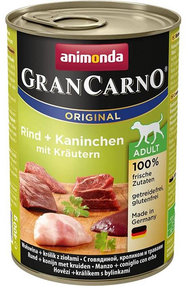 Animonda Animonda dog konzerva Gran Carno hovädzie / králik / bylinky - 400g