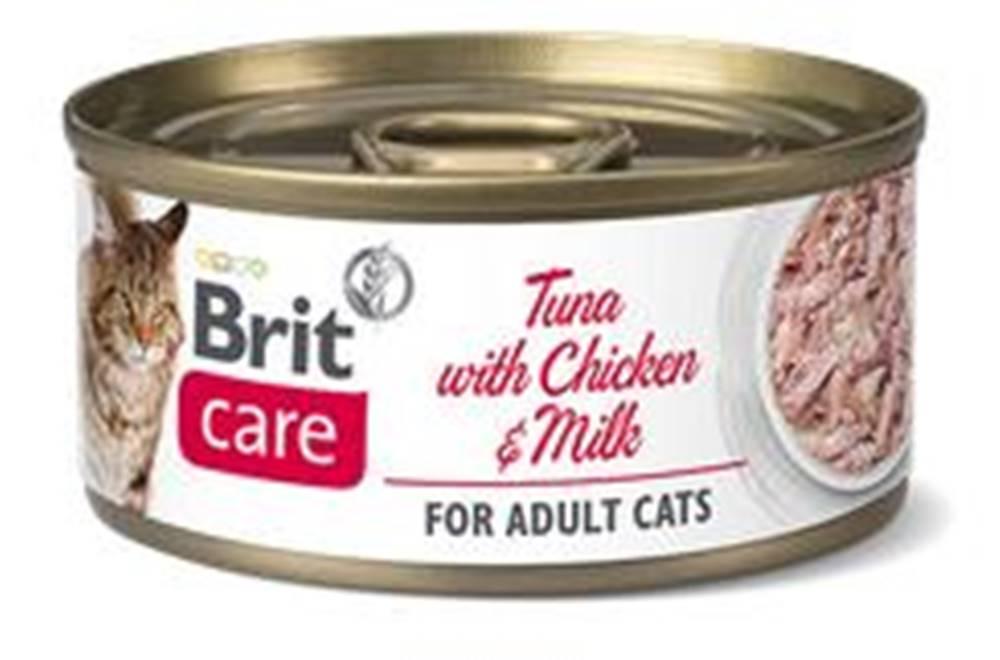 Brit Care BRIT CARE cat konz. ADULT  TUNA/chicken/milk - 70g