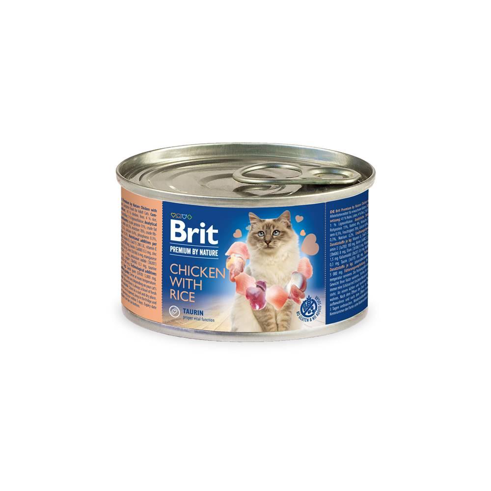 Brit BRIT cat  premium  konz. CHICKEN/rice - 200g