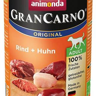 Animonda dog konzerva Gran Carno hovädzie / kura - 400g