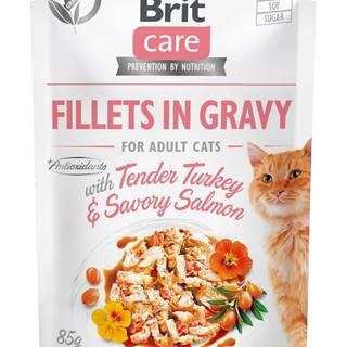 BRIT CARE cat kapsa  ADULT  TENDER turkey/salmon - 85g