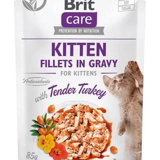 BRIT CARE cat kapsa  KITTEN TENDER/turkey - 85g