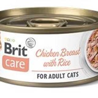 BRIT CARE cat konz. ADULT  CHICKEN/breast/rice - 70g