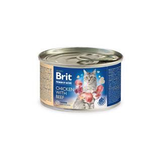 BRIT cat  premium konz. CHICKEN/beef  - 200g